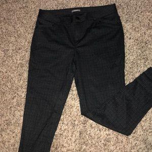 Textured print black dress pant